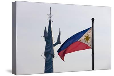 Tv Tower and National Flag, Manila, Philippines-Keren Su-Stretched Canvas Print