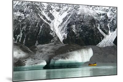 Raft on the Tasman Glacier Terminal Lake, South Island, New Zealand-David Noyes-Mounted Photographic Print