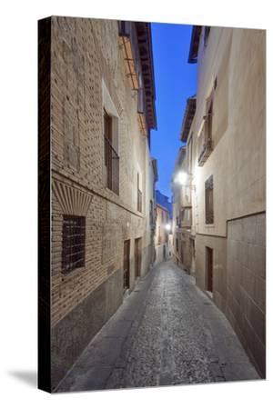 Historic District Alley at Dawn, Toledo, Spain-Rob Tilley-Stretched Canvas Print