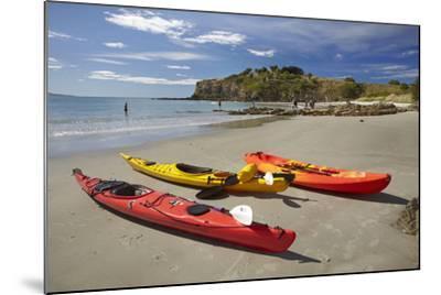 Kayaks, Doctors Point, Mapoutahi Pa, Maori Pa Site, South Island, New Zealand-David Wall-Mounted Photographic Print