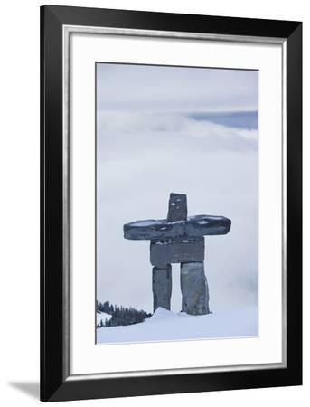 Gondola, Whistler to Blackcomb, Inuksuk First Nation Marker, British Columbia, Canada-Walter Bibikow-Framed Photographic Print