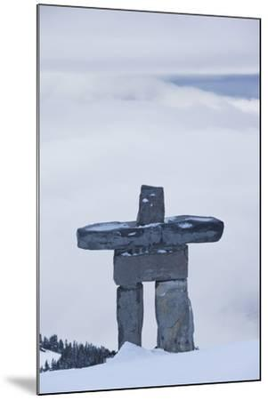 Gondola, Whistler to Blackcomb, Inuksuk First Nation Marker, British Columbia, Canada-Walter Bibikow-Mounted Photographic Print