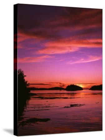 View of Beach at Sunset, Vancouver Island, British Columbia-Stuart Westmorland-Stretched Canvas Print