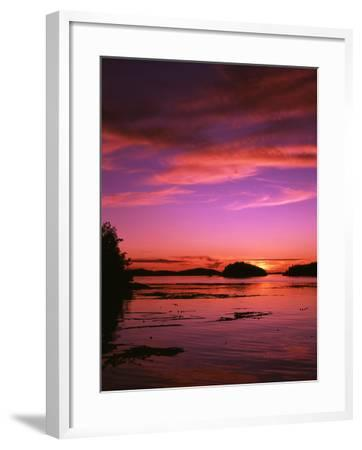 View of Beach at Sunset, Vancouver Island, British Columbia-Stuart Westmorland-Framed Photographic Print