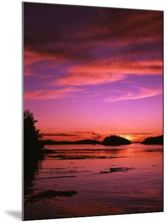 View of Beach at Sunset, Vancouver Island, British Columbia-Stuart Westmorland-Mounted Photographic Print