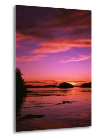View of Beach at Sunset, Vancouver Island, British Columbia-Stuart Westmorland-Metal Print