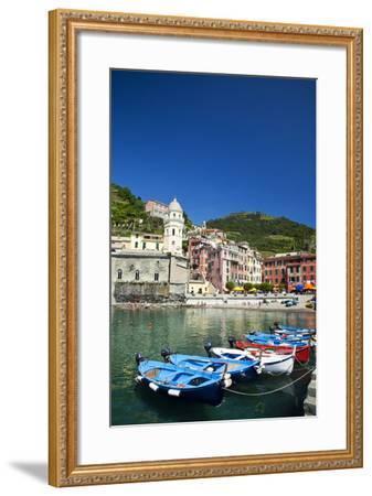 City and Church of Santa Margherita d'Antiochia of Vernazza, Italy-Terry Eggers-Framed Photographic Print