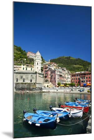 City and Church of Santa Margherita d'Antiochia of Vernazza, Italy-Terry Eggers-Mounted Photographic Print