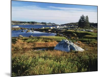 View of Sea with Coastline, Nova Scotia, Canada-Greg Probst-Mounted Photographic Print