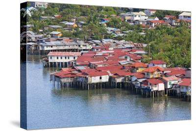 Aerial View of Houses on Stilts Along the Waterfront, Cebu City, Philippines-Keren Su-Stretched Canvas Print