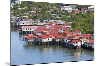 Aerial View of Houses on Stilts Along the Waterfront, Cebu City, Philippines-Keren Su-Mounted Photographic Print