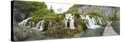 Lower Lakes Cascade in Lake Kaluderovac, Plitvice Lakes, Plitvicka Jezera, Croatia-Martin Zwick-Stretched Canvas Print