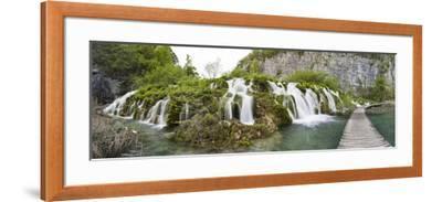 Lower Lakes Cascade in Lake Kaluderovac, Plitvice Lakes, Plitvicka Jezera, Croatia-Martin Zwick-Framed Photographic Print