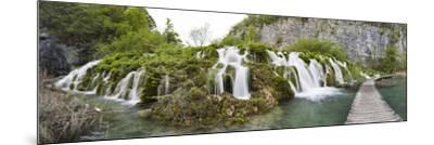 Lower Lakes Cascade in Lake Kaluderovac, Plitvice Lakes, Plitvicka Jezera, Croatia-Martin Zwick-Mounted Photographic Print