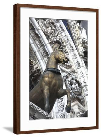 Horse Statue on San Marco, Venice, Italy-Terry Eggers-Framed Photographic Print