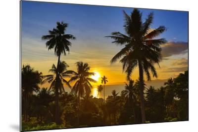 Sunset, Taveuni, Vanua Levu in Background, Fiji-Douglas Peebles-Mounted Photographic Print