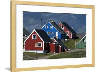 The Colorful Cottages of the Town Narsaq, Greenland-David Noyes-Framed Photographic Print