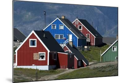 The Colorful Cottages of the Town Narsaq, Greenland-David Noyes-Mounted Photographic Print