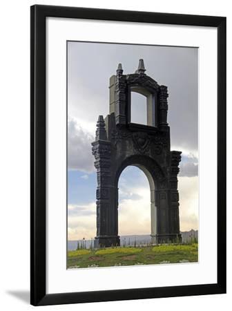 Monument at Mirador Killi Killi in La Paz, Bolivia-Kymri Wilt-Framed Photographic Print