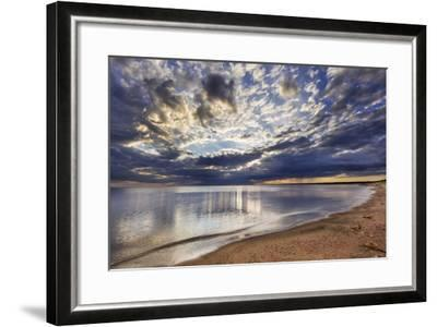 Sun Breaks Cloudy Morning, Superior Point, Lake Superior, Wisconsin, USA-Chuck Haney-Framed Photographic Print