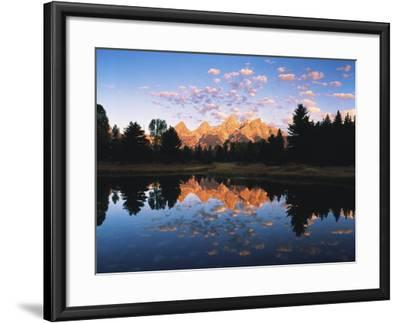 Teton Range Reflecting in Beaver Pond, Grand Teton National Park, Wyoming, USA-Adam Jones-Framed Photographic Print