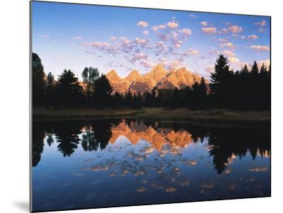 Teton Range Reflecting in Beaver Pond, Grand Teton National Park, Wyoming, USA-Adam Jones-Mounted Photographic Print