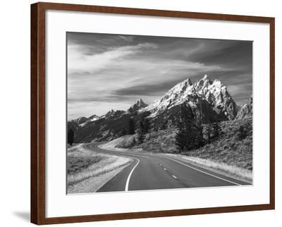 Teton Park Road and Teton Range, Grand Teton National Park, Wyoming, USA-Adam Jones-Framed Photographic Print