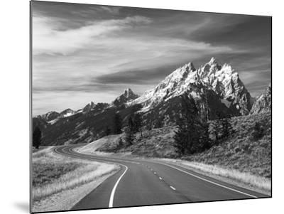 Teton Park Road and Teton Range, Grand Teton National Park, Wyoming, USA-Adam Jones-Mounted Photographic Print