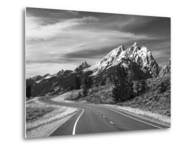 Teton Park Road and Teton Range, Grand Teton National Park, Wyoming, USA-Adam Jones-Metal Print