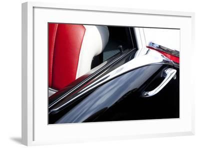 Detail at Classic Car Show, Kirkland, Washington, USA-John & Lisa Merrill-Framed Photographic Print