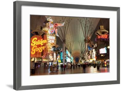 Fremont Street Experience Las Vegas, Nevada, USA-Michael DeFreitas-Framed Photographic Print