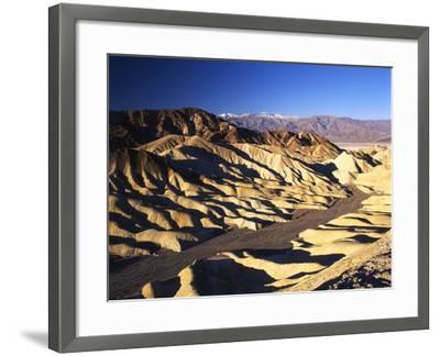 Telescope Peak in Mojave Desert, Death Valley National Park, Zabriskie Point, California, USA-Adam Jones-Framed Photographic Print