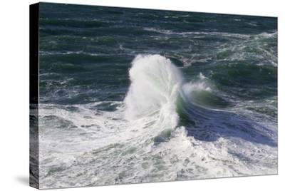 Wind Driven Ocean Waves, Cape Kiwanda, Oregon, USA-Jamie & Judy Wild-Stretched Canvas Print
