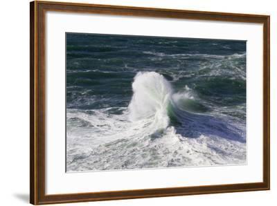 Wind Driven Ocean Waves, Cape Kiwanda, Oregon, USA-Jamie & Judy Wild-Framed Photographic Print