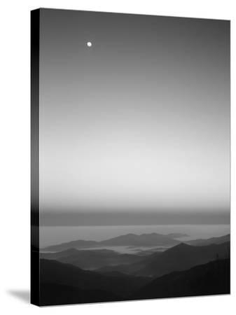 Cherohala Skyway, Full Moon over the Smoky Mountains-Rob Tilley-Stretched Canvas Print