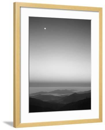 Cherohala Skyway, Full Moon over the Smoky Mountains-Rob Tilley-Framed Photographic Print
