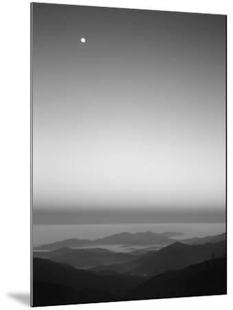 Cherohala Skyway, Full Moon over the Smoky Mountains-Rob Tilley-Mounted Photographic Print