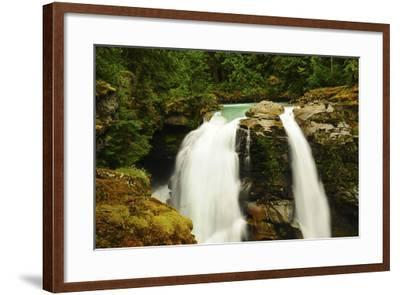 Hooksack Waterfalls, Mount Baker-Snoqualmie National Forest, Washington, USA-Michel Hersen-Framed Photographic Print