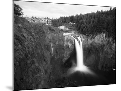 Salish Lodge and English Daisies, Snoqualmie Falls, Washington, USA-Charles Crust-Mounted Photographic Print