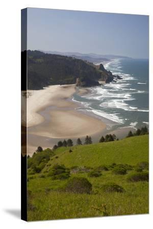 View of Beach, Cascade Head, Oregon, USA-Jamie & Judy Wild-Stretched Canvas Print