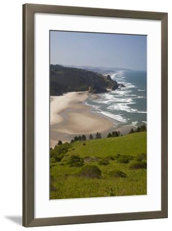 View of Beach, Cascade Head, Oregon, USA-Jamie & Judy Wild-Framed Photographic Print