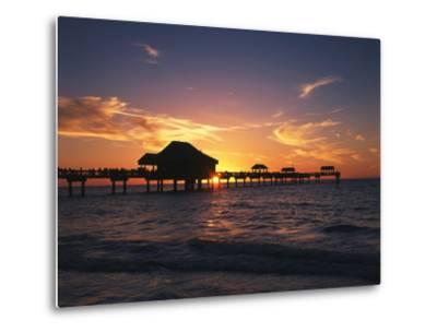 Clearwater Beach and Pier at Sunset, Florida, USA-Adam Jones-Metal Print
