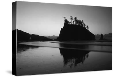 Sea Stacks, Second Beach, Olympic National Park, Washington, USA-Inger Hogstrom-Stretched Canvas Print