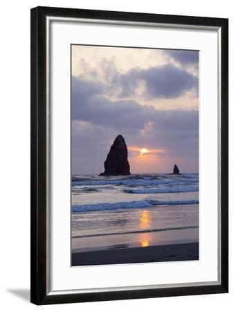 Seastacks at Sunset, Cannon Beach, Oregon, USA-Jamie & Judy Wild-Framed Photographic Print