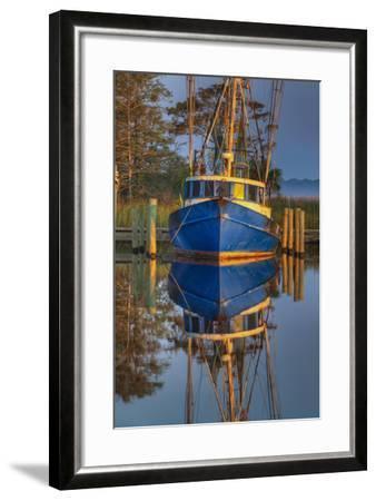 Shrimp Boat Docked at Harbor, Apalachicola, Florida, USA-Joanne Wells-Framed Photographic Print