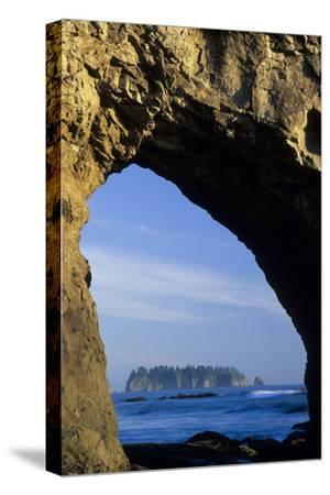 Arch in Sea Stack, Rialto Beach, Olympic National Park, Washington, USA-John & Lisa Merrill-Stretched Canvas Print