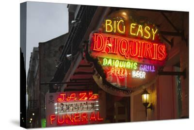 Neon Signs on Bourbon Street, French Quarter, New Orleans, Louisiana, USA-Jamie & Judy Wild-Stretched Canvas Print