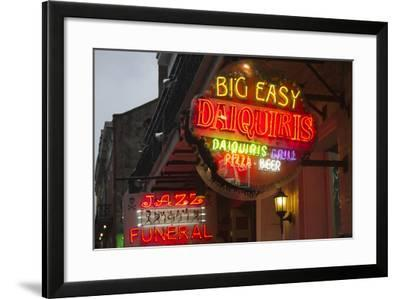 Neon Signs on Bourbon Street, French Quarter, New Orleans, Louisiana, USA-Jamie & Judy Wild-Framed Photographic Print