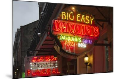 Neon Signs on Bourbon Street, French Quarter, New Orleans, Louisiana, USA-Jamie & Judy Wild-Mounted Photographic Print