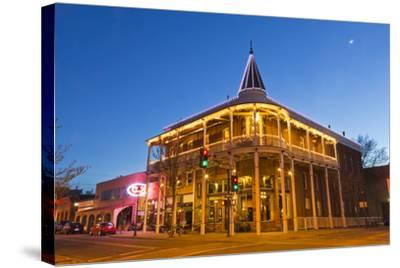 The Weatherford Hotel at Dusk in Historic Downtown Flagstaff, Arizona, USA-Chuck Haney-Stretched Canvas Print
